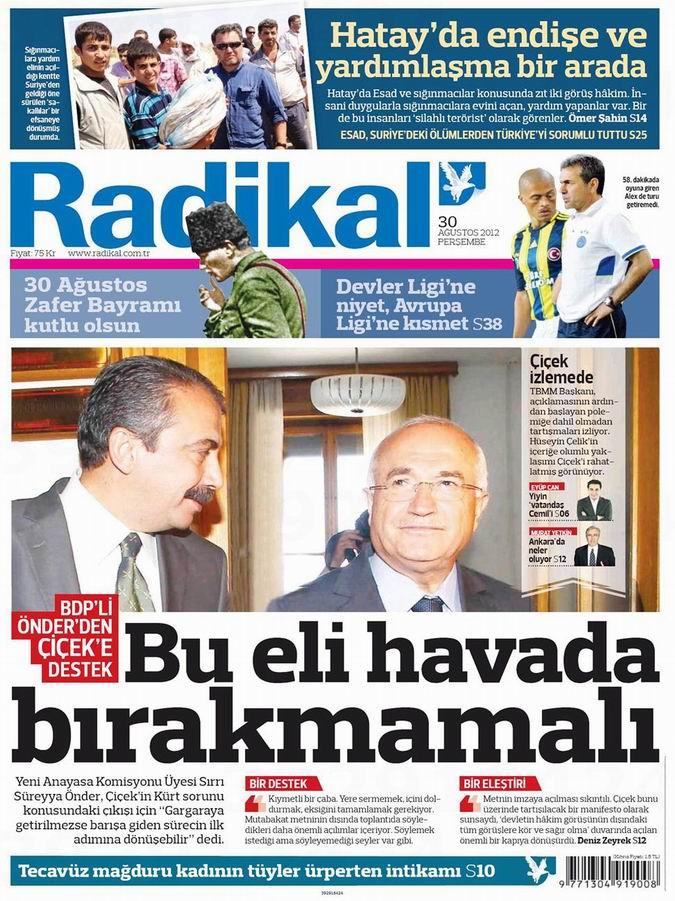 Gazete Manşetleri - 30 Ağustos Perşembe 12