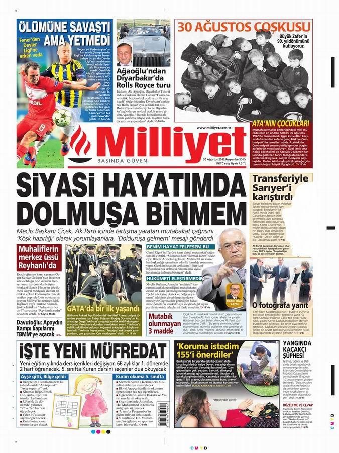 Gazete Manşetleri - 30 Ağustos Perşembe 15