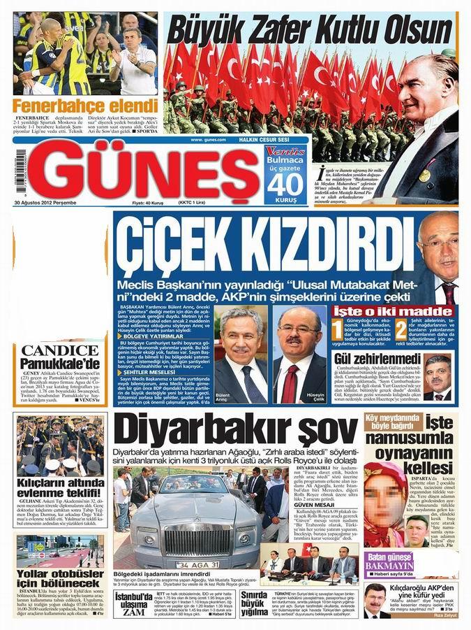 Gazete Manşetleri - 30 Ağustos Perşembe 19