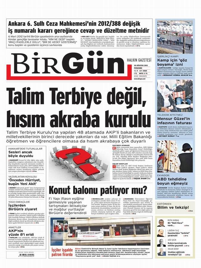 Gazete Manşetleri - 30 Ağustos Perşembe 21