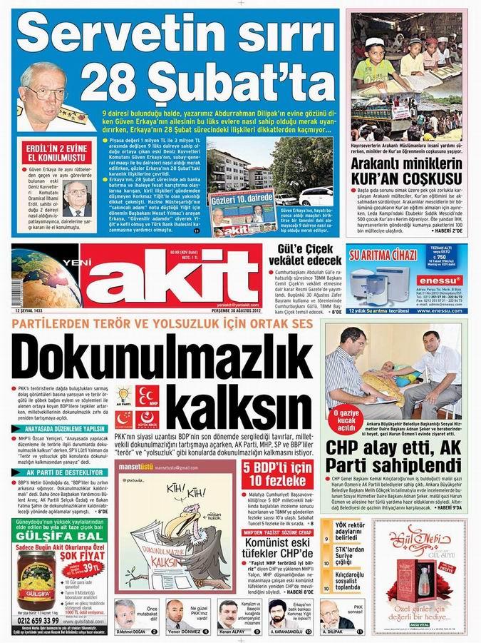 Gazete Manşetleri - 30 Ağustos Perşembe 4