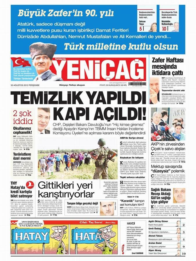 Gazete Manşetleri - 30 Ağustos Perşembe 7