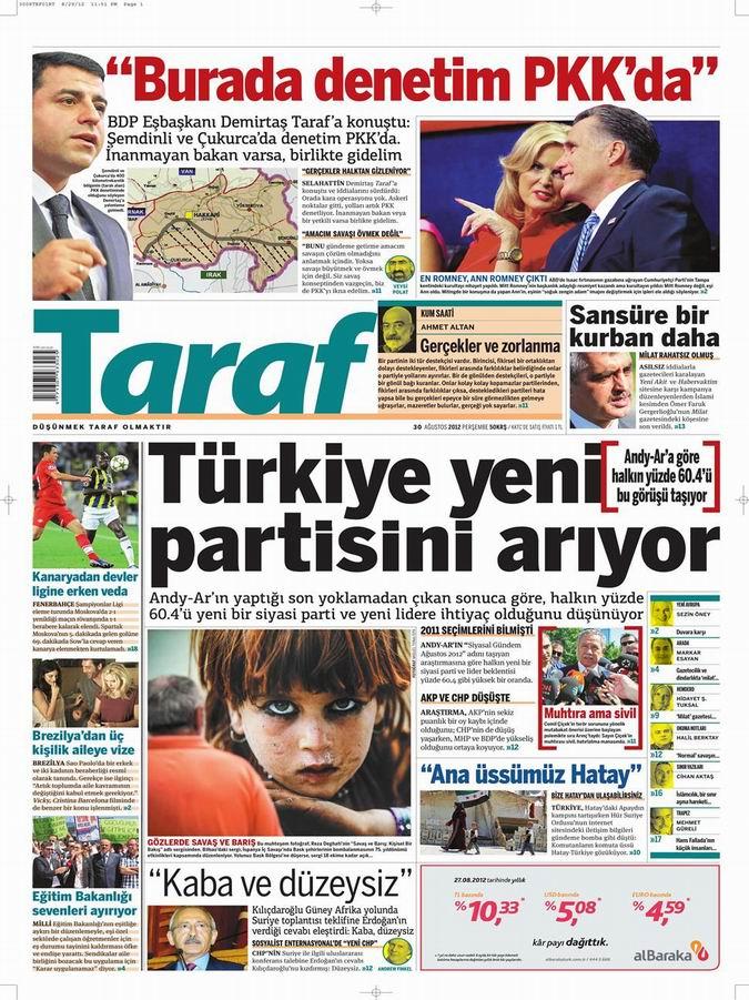 Gazete Manşetleri - 30 Ağustos Perşembe 8