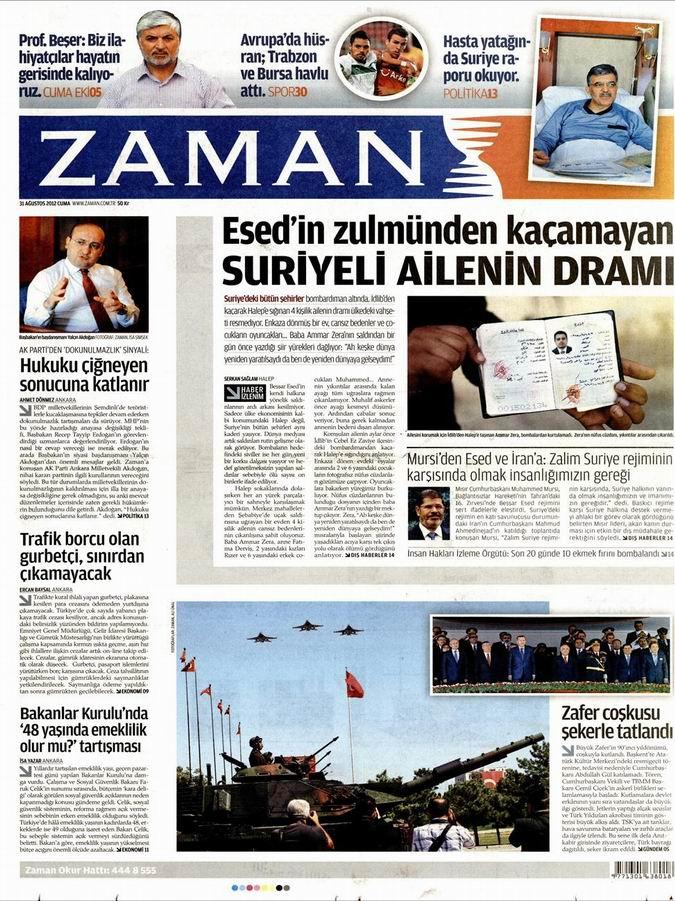 Gazete Manşetleri - 31 Ağustos Cuma 1