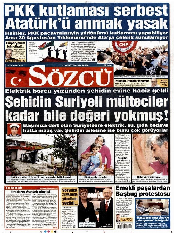 Gazete Manşetleri - 31 Ağustos Cuma 10