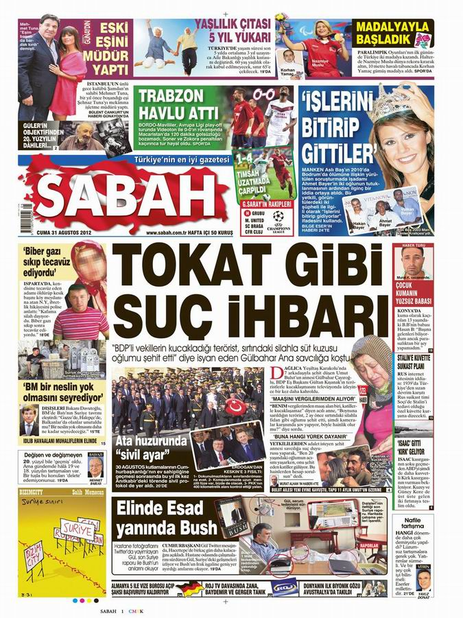 Gazete Manşetleri - 31 Ağustos Cuma 11