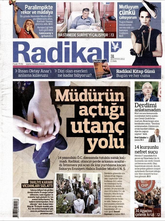 Gazete Manşetleri - 31 Ağustos Cuma 12
