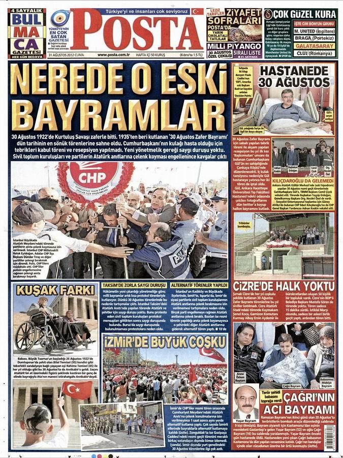 Gazete Manşetleri - 31 Ağustos Cuma 13