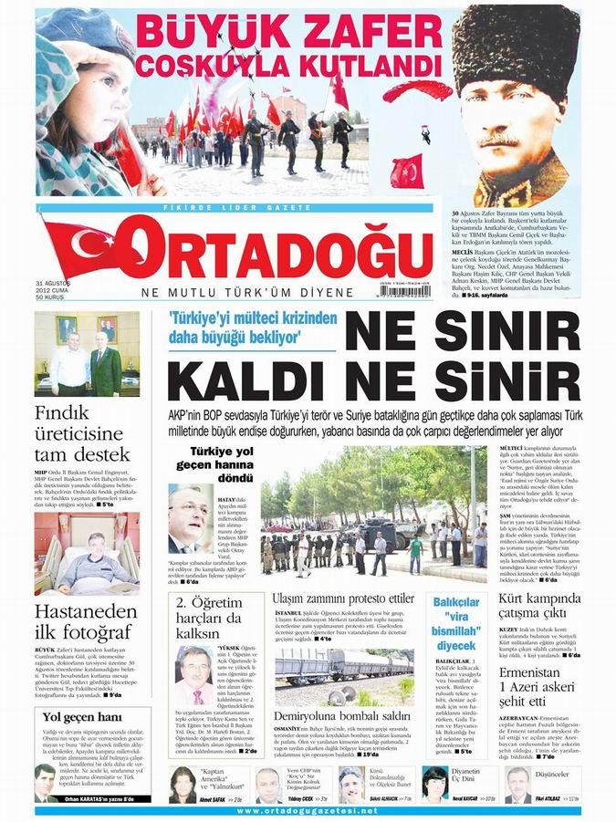 Gazete Manşetleri - 31 Ağustos Cuma 14