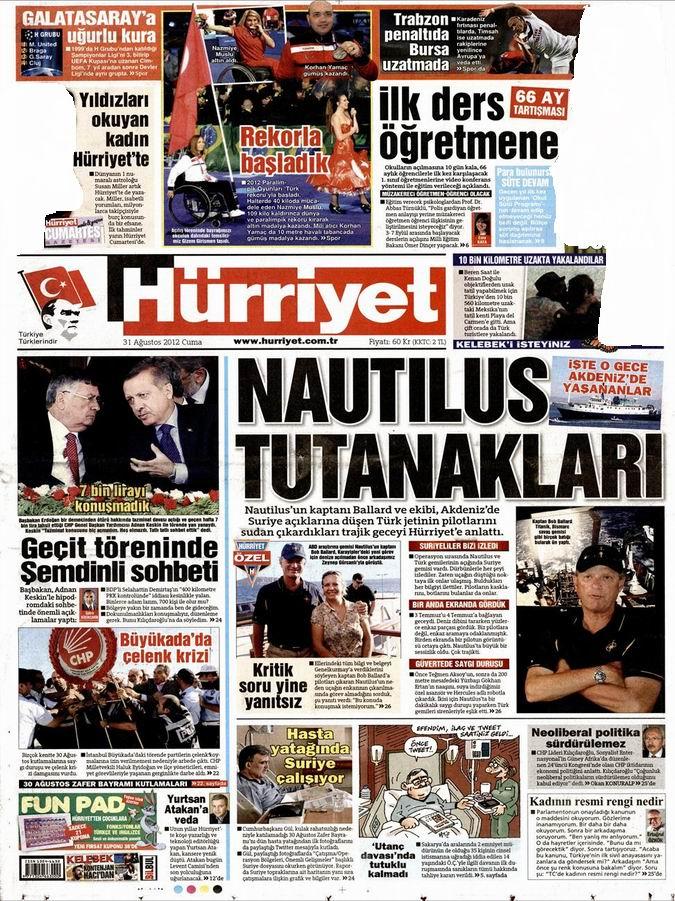 Gazete Manşetleri - 31 Ağustos Cuma 18