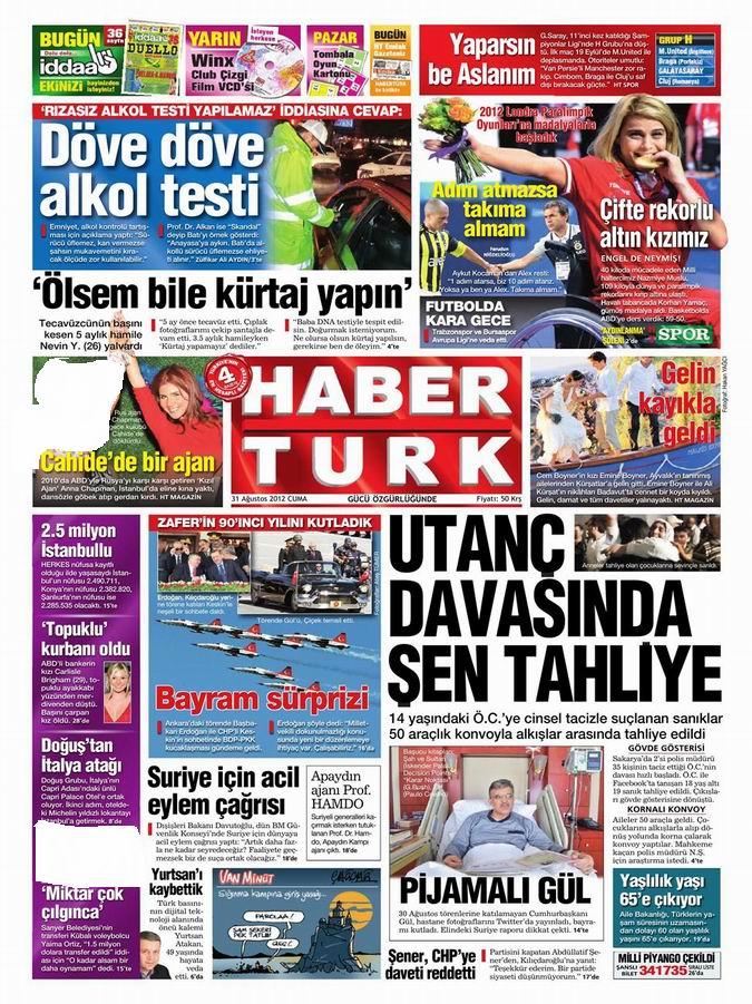 Gazete Manşetleri - 31 Ağustos Cuma 19