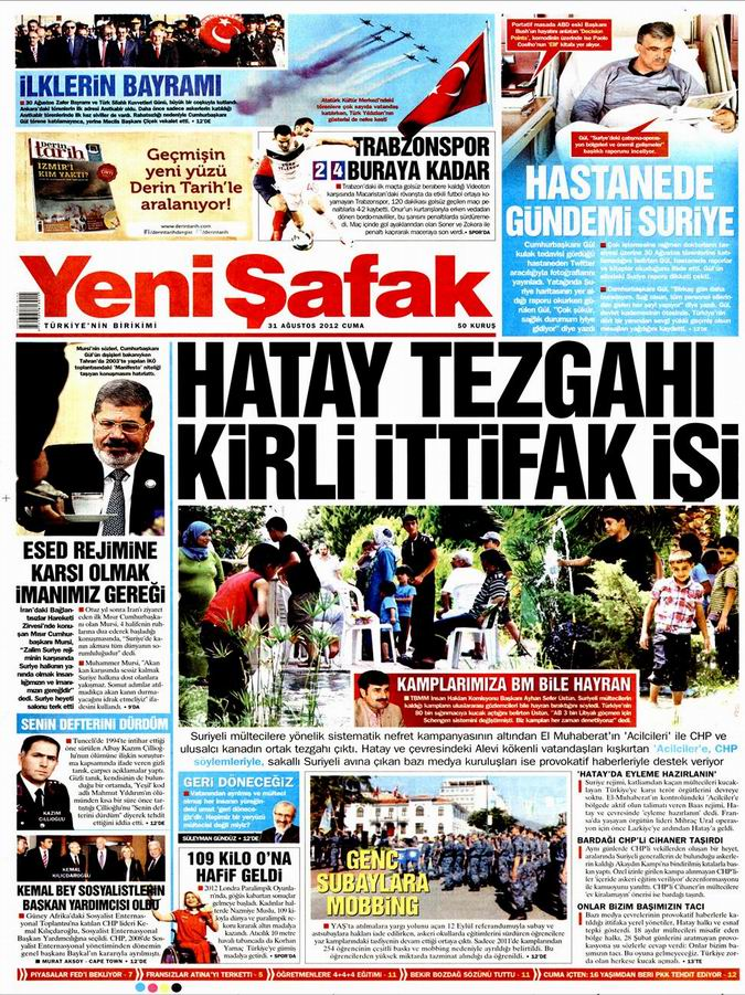 Gazete Manşetleri - 31 Ağustos Cuma 2