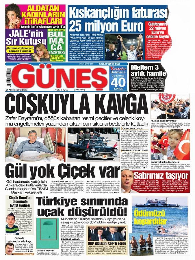 Gazete Manşetleri - 31 Ağustos Cuma 20