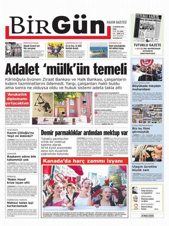 Gazete Manşetleri - 31 Ağustos Cuma 23