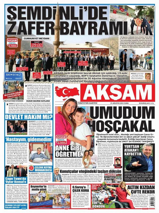 Gazete Manşetleri - 31 Ağustos Cuma 24