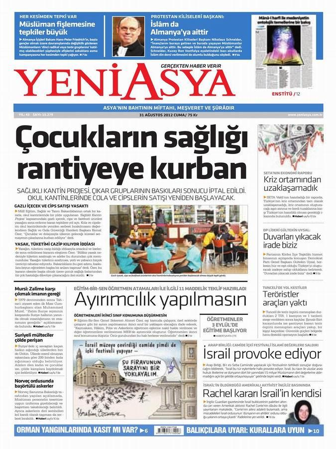 Gazete Manşetleri - 31 Ağustos Cuma 3