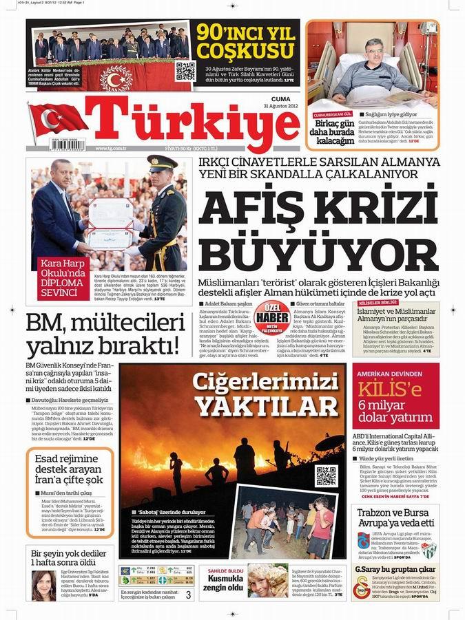 Gazete Manşetleri - 31 Ağustos Cuma 6