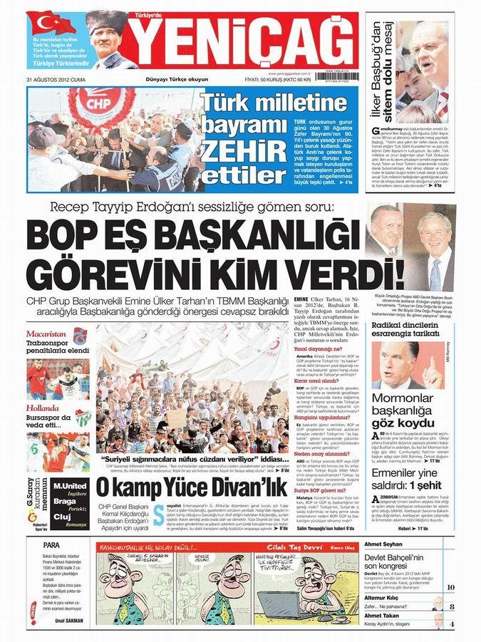 Gazete Manşetleri - 31 Ağustos Cuma 7