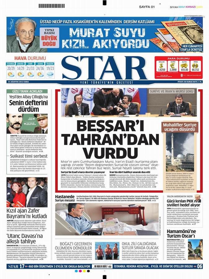 Gazete Manşetleri - 31 Ağustos Cuma 9
