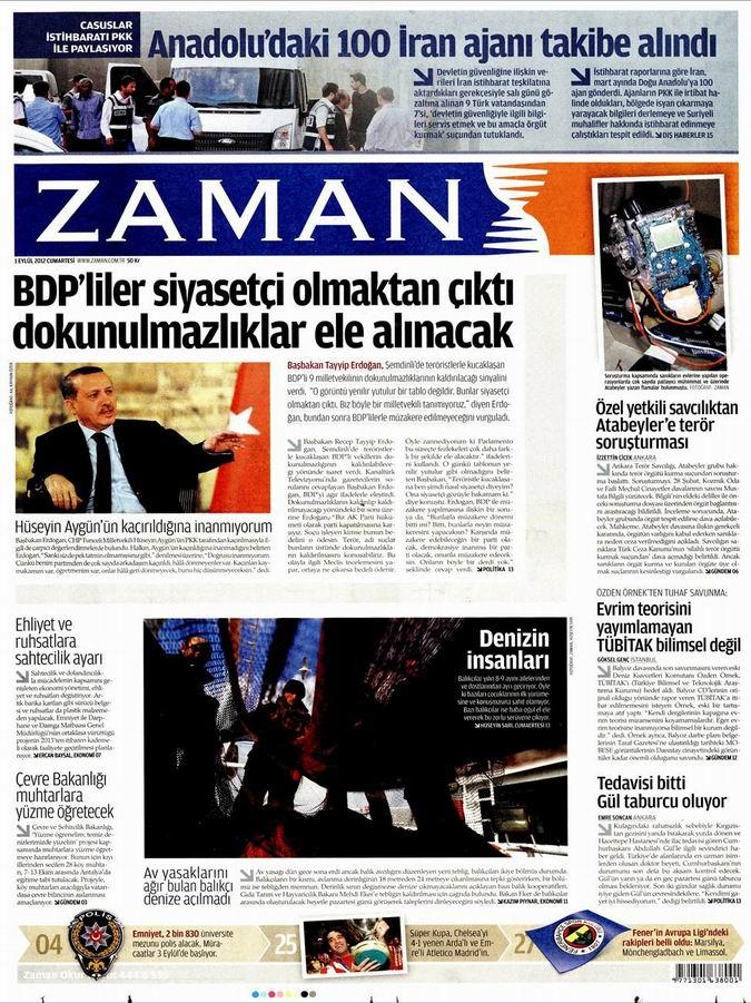 Gazete Manşetleri - 1 Eylül Cumartesi 1
