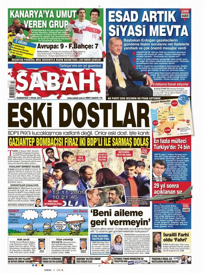 Gazete Manşetleri - 1 Eylül Cumartesi 10
