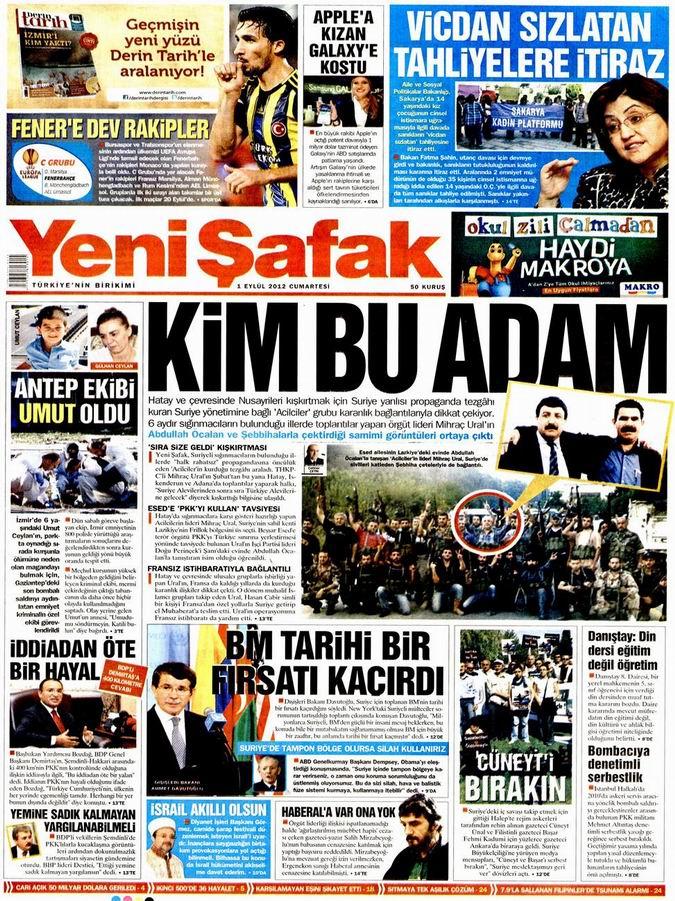 Gazete Manşetleri - 1 Eylül Cumartesi 2