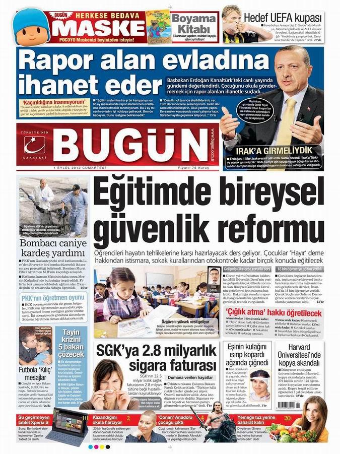 Gazete Manşetleri - 1 Eylül Cumartesi 21