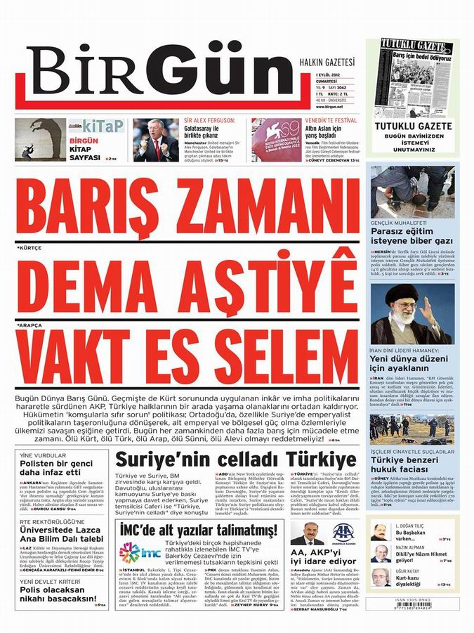 Gazete Manşetleri - 1 Eylül Cumartesi 22