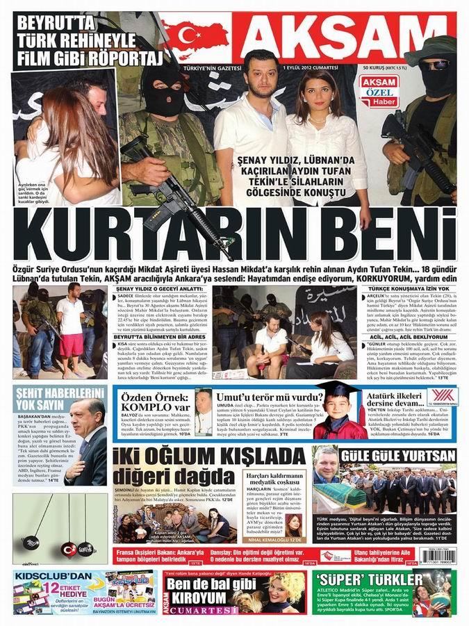 Gazete Manşetleri - 1 Eylül Cumartesi 23