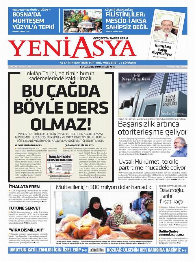 Gazete Manşetleri - 1 Eylül Cumartesi 3
