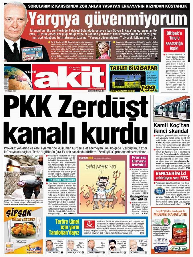 Gazete Manşetleri - 1 Eylül Cumartesi 4