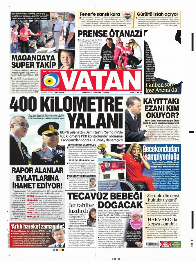 Gazete Manşetleri - 1 Eylül Cumartesi 5
