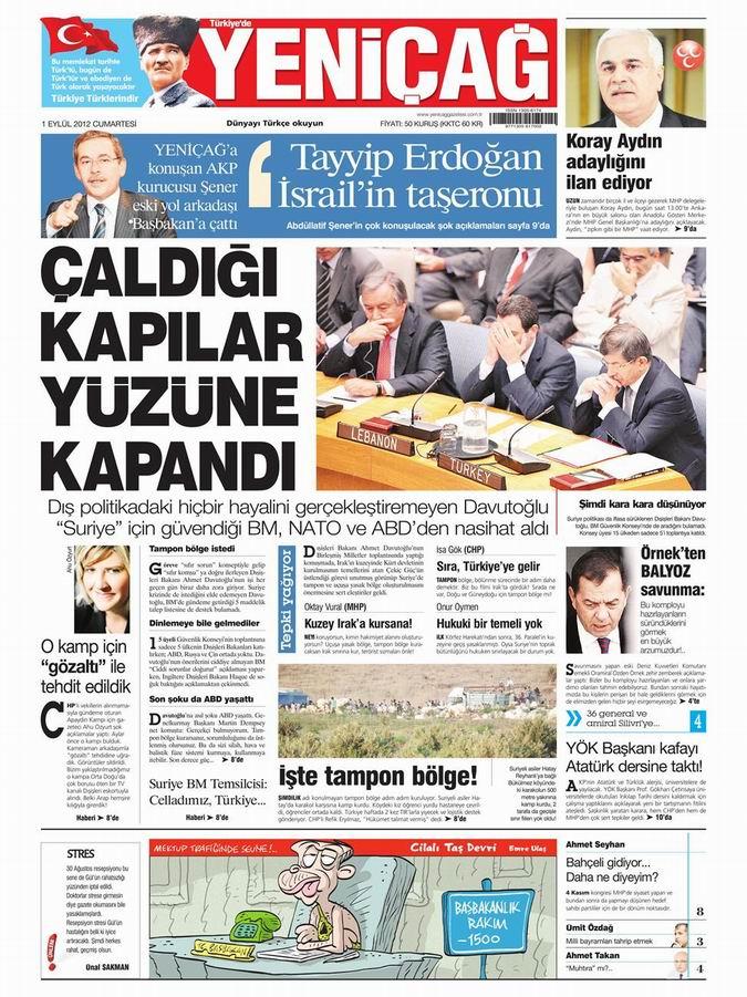 Gazete Manşetleri - 1 Eylül Cumartesi 7