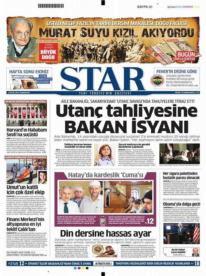Gazete Manşetleri - 1 Eylül Cumartesi 9