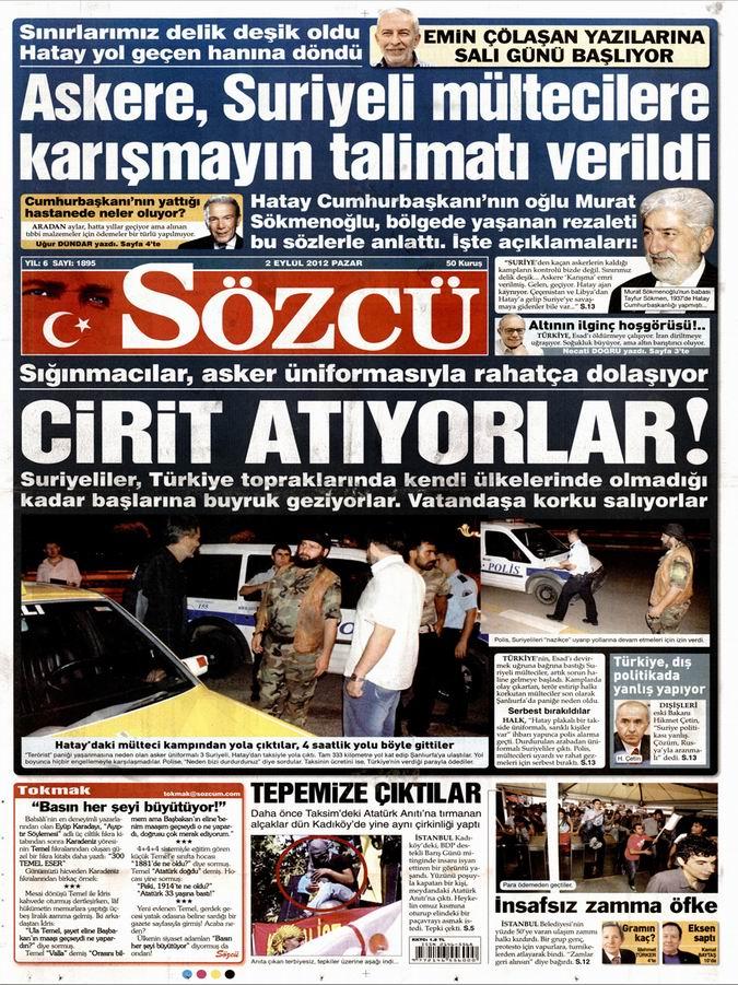 Gazete Manşetleri - 2 Eylül Pazar 10