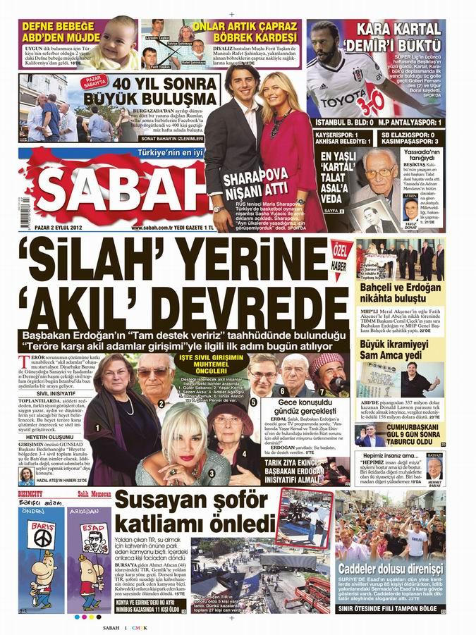 Gazete Manşetleri - 2 Eylül Pazar 11