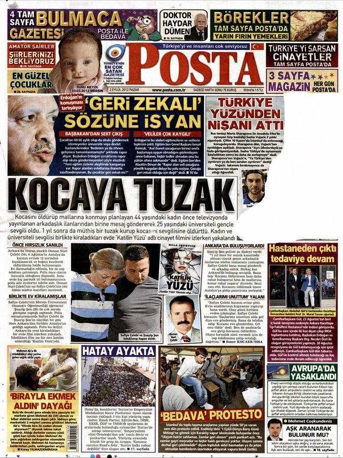 Gazete Manşetleri - 2 Eylül Pazar 13