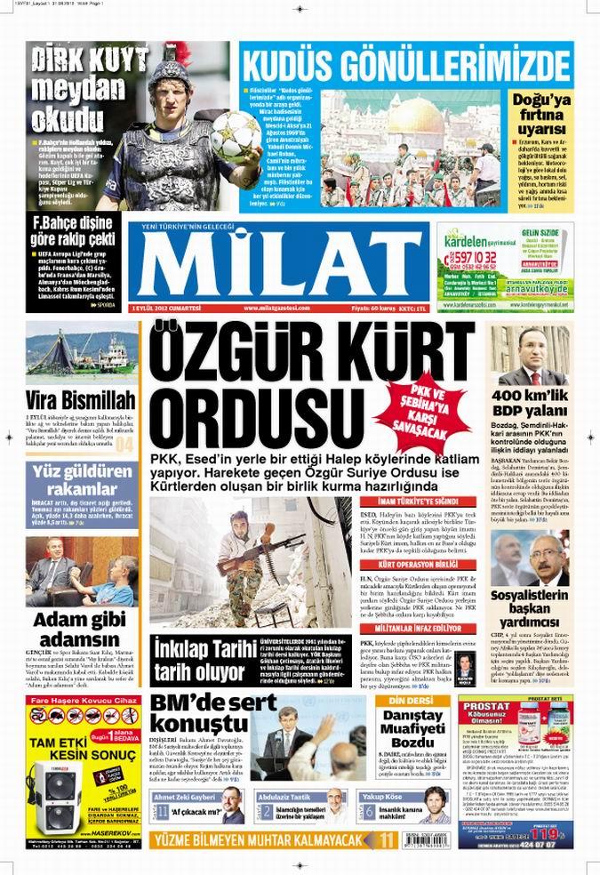 Gazete Manşetleri - 2 Eylül Pazar 17