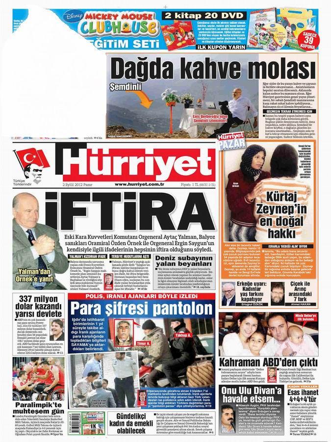 Gazete Manşetleri - 2 Eylül Pazar 18