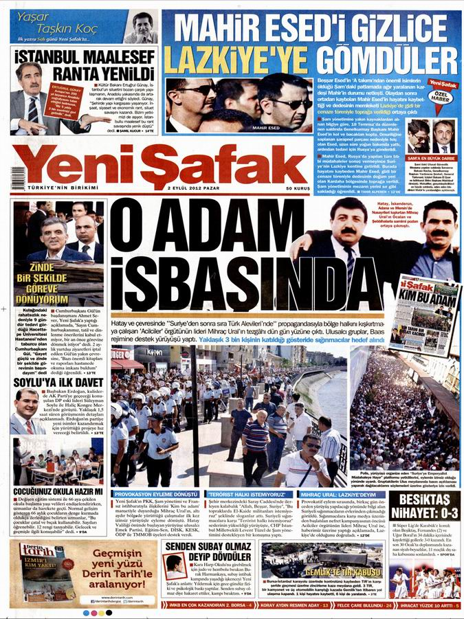 Gazete Manşetleri - 2 Eylül Pazar 2