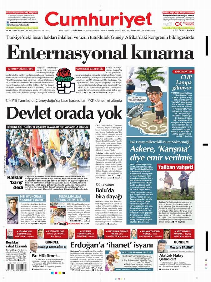 Gazete Manşetleri - 2 Eylül Pazar 21