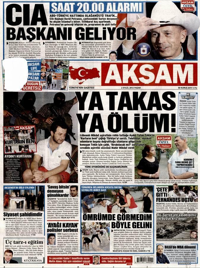 Gazete Manşetleri - 2 Eylül Pazar 24