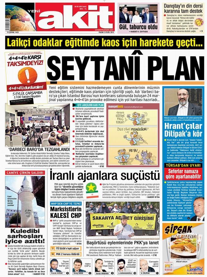 Gazete Manşetleri - 2 Eylül Pazar 4