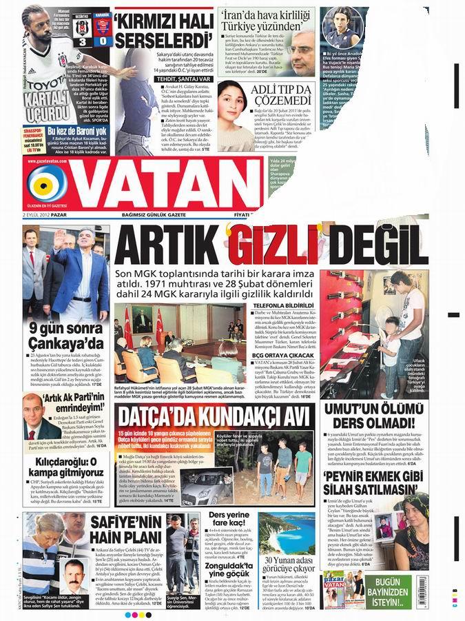 Gazete Manşetleri - 2 Eylül Pazar 5