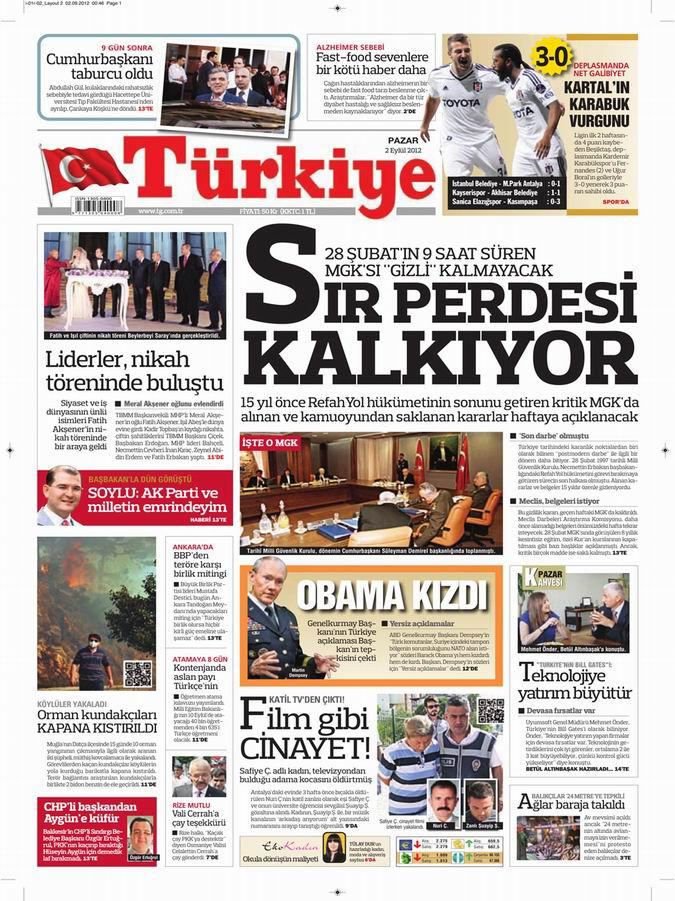 Gazete Manşetleri - 2 Eylül Pazar 7