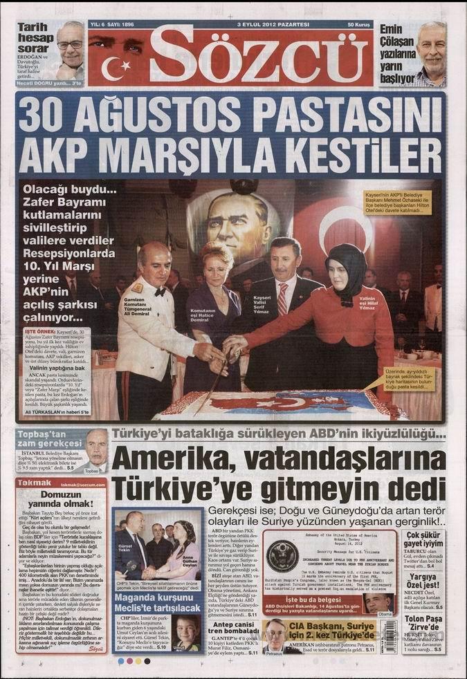 Gazete Manşetleri - 3 Eylül Pazartesi 10