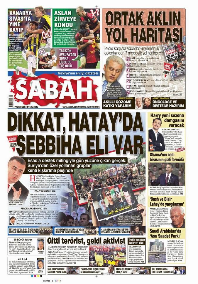 Gazete Manşetleri - 3 Eylül Pazartesi 11