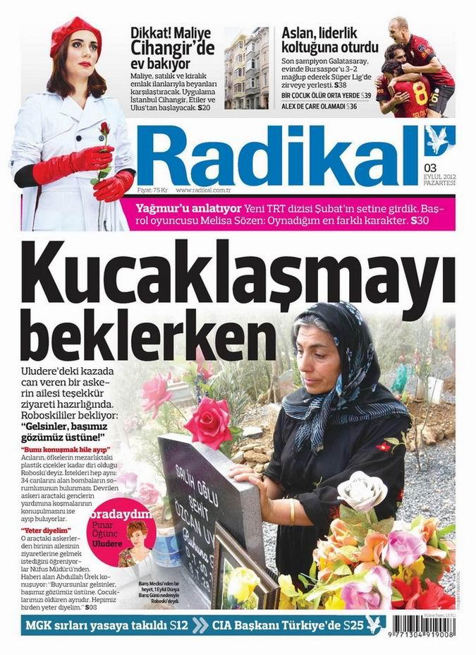 Gazete Manşetleri - 3 Eylül Pazartesi 12