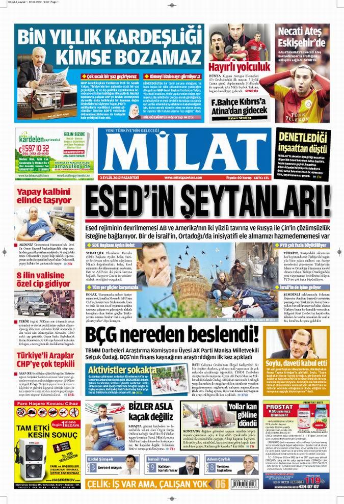 Gazete Manşetleri - 3 Eylül Pazartesi 16