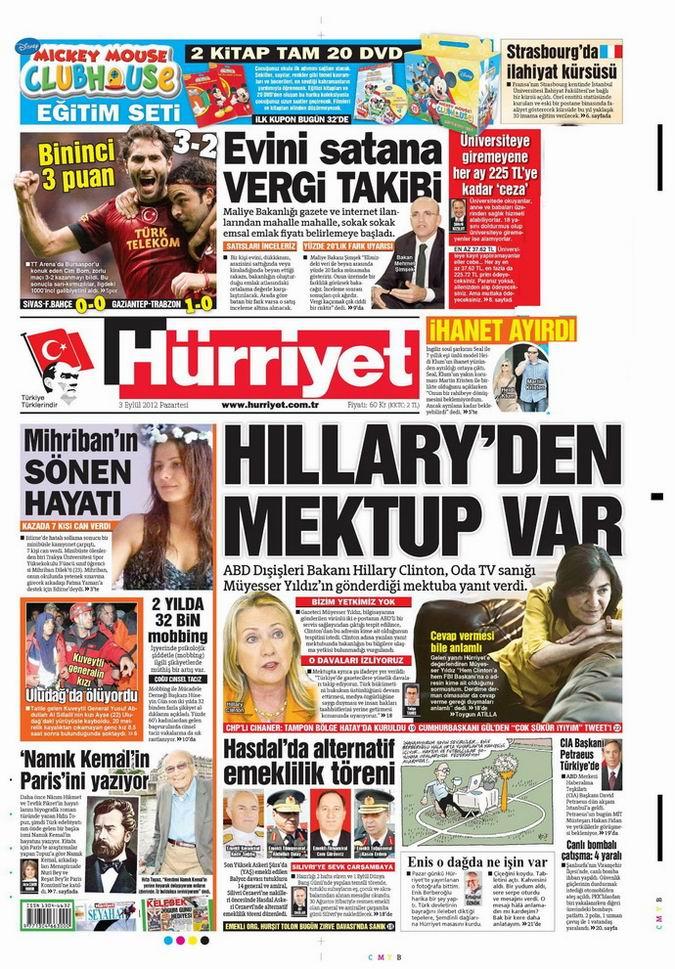 Gazete Manşetleri - 3 Eylül Pazartesi 17